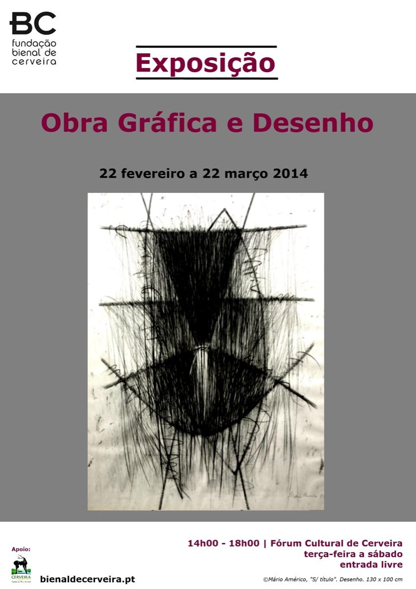 """© Mário Américo, """"S/ título"""". Desenho. 130 x 100 cm"""