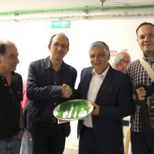 Visita do secretário-geral da Cultura da Junta da Galiza, Anxo Lorenzo, 2017