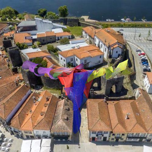 Projeto da intervenção artística Acácio de Carvalho no Castelo de Cerveira, 2018