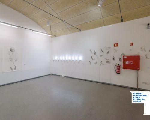"""Curadoria """"Tempo, Espaço e Identidade""""   Mezzanine do Fórum Cultural de Cerveira, XX Bienal Internacional de Arte de Cerveira, 2018"""
