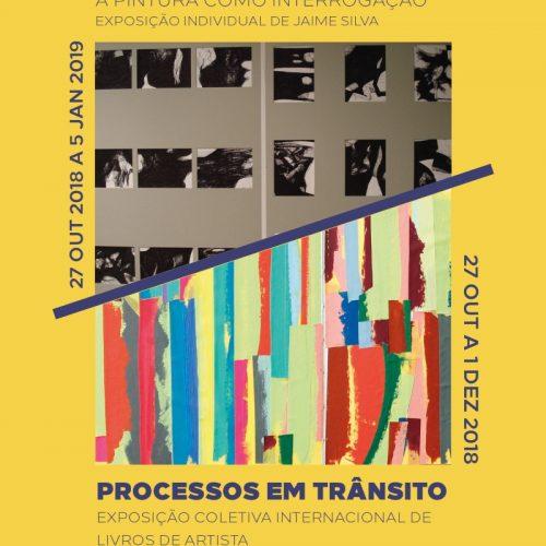 """Exposições """"Viacrucis"""" de Jaime Silva e """"Processos em Trânsito"""" (exposição coletiva internacional de livros de artista), 2018"""