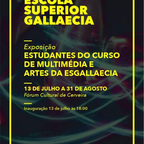 """Exposição """"Estudantes do Curso de Multimédia e Artes da ESGALLAECIA"""", 2019"""
