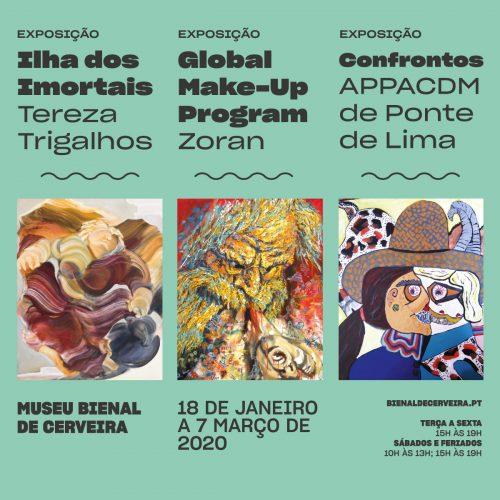 Exposições de Janeiro na Fundação Bienal de Arte de Cerveira, 2020