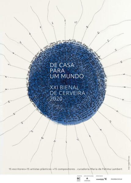 """Cartaz Beatriz Horta Correia projeto """"De casa para um mundo..."""""""