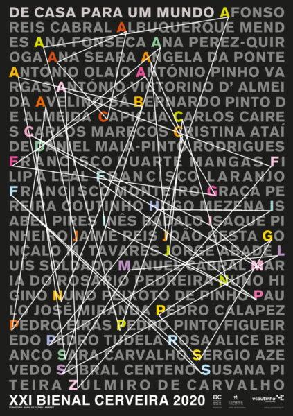 """Cartaz Francisco Providência projeto """"De casa para um mundo..."""""""