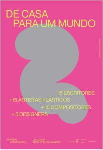 """Cartaz Joana Machado projeto """"De casa para um mundo..."""""""