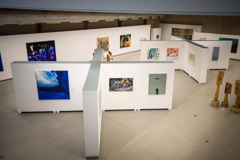 Sala principal de exposições XXI Bienal Internacional de Arte de Cerveira