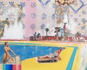 Mariana Mizarela Sunday Pool, 2019 Técnica mista sobre tela 80x100 cm